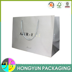 wholesale black luxury paper t-shirt shopping bag