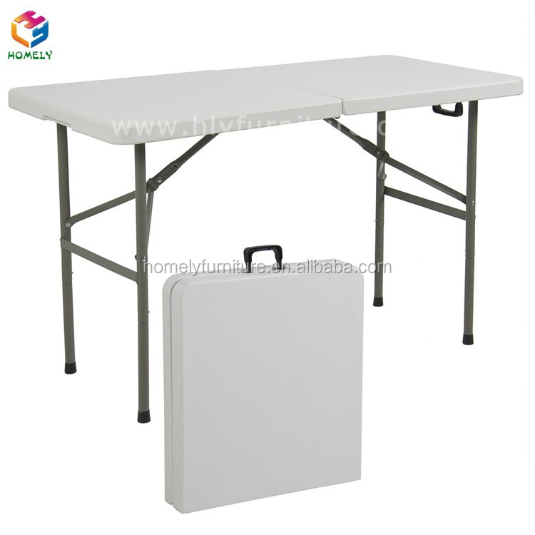 Garden event folding plastic chair and table