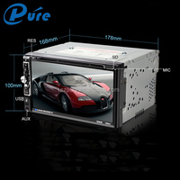 Double Din Car Stereo 6.95 inch Touch Screen Car Dvd Player With Bluetooth Car Audio Multimedia System