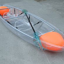 china cheap plastic crystal double kayak