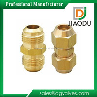 Customized antique 1/2 refrigeration brass double connector