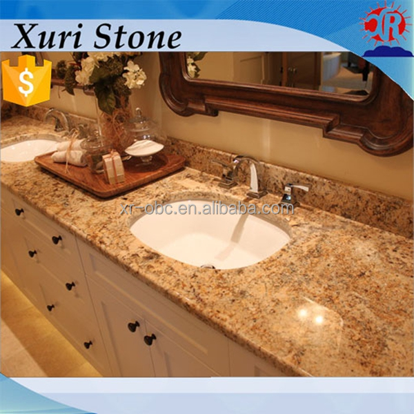 brown granite , flat edge granite countertop, bathroom vanity top