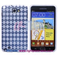 Rhombus Smooth TPU skins gel case for samsung galaxy note i9220
