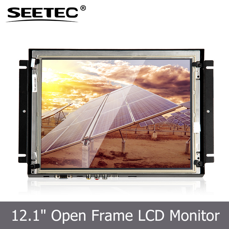 Open frame display 12.1 inch 4:3 large monitor rugged touch screen for industrial