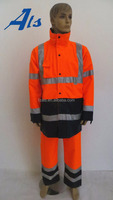 Waterpoof Orange High visibility Reflective Safety Jacket