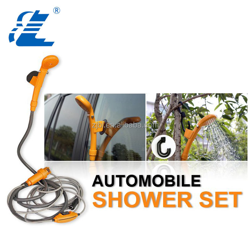 Battery operated camping portable car shower set outdoor use