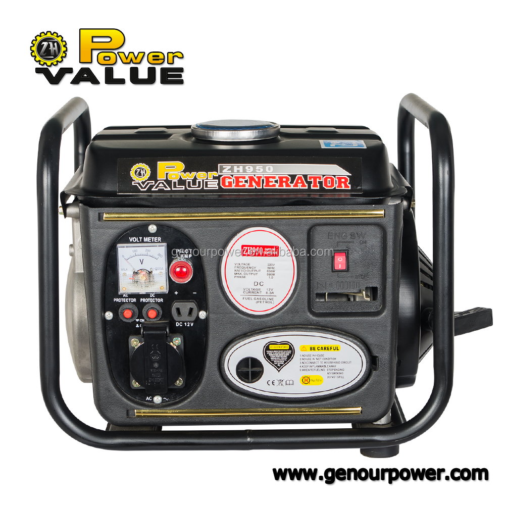 650w 750watt 950 aircooled gasoline generator set, 2 stroke engines for sale