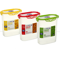 Hot Selling 2.4L Large Size Water Proof Food Grade Plastic Airtight Container With Duable Lock
