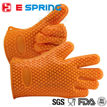 High temperature BBQ washing kitchen oven mitt silicone glove