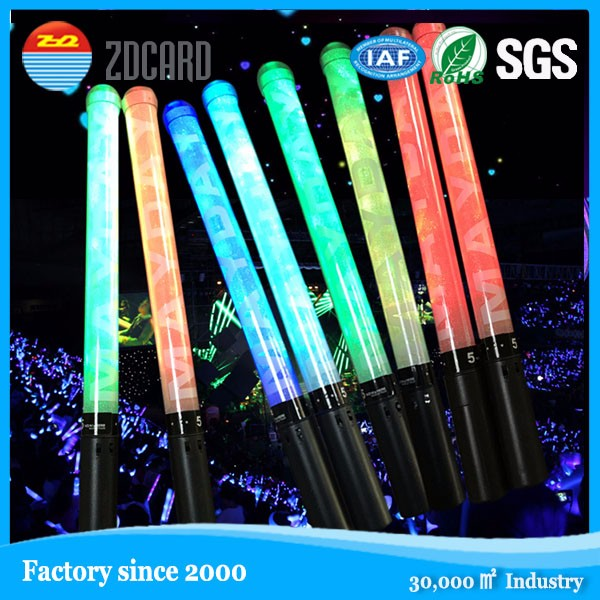 Custom Flashing LED radio controlled led light glow foam stick for event!