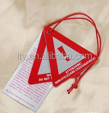 Custom shape thick paper hang tag with cotton string