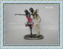 Resin multi mini dancing couple figure