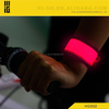 2015 Latest Popular wholesale reflective adjustable led custom silicone slap bracelet rubber elastic band slap wristband