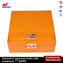 custom packaging with unique hardware accessories logo gift jewelry storage wood boxes for women