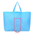 Large capacity foldable blank non woven grocery tote bag for shopping