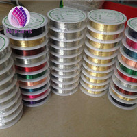 colorful copper wire 0.1--0.8mm jewelry findings metal wire