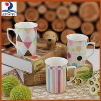 Factory direct customized colorful porcelain mug for office and home
