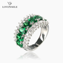 925 sterling silver green stone ring manufacturer promotional silver ring jewelry