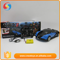 Plastic intelligence educational blue children deform robot rc car toys