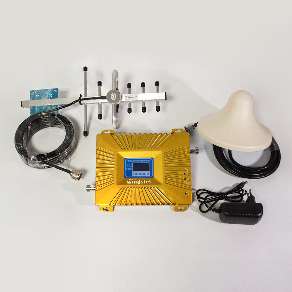GSM 2g 4g 900/1800MHz Mobile Signal Booster with antenna and cable for cellphone