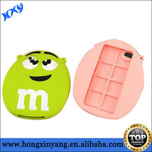 Cute design M&M bean silicon case for iPhone 5