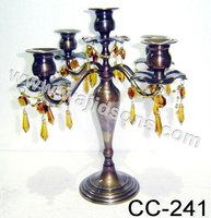 5 Arm Beads Candelabra Table Centerpiece for Home and Wedding Decoration,Aluminium floor standing candelabra