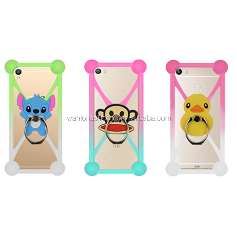 hot sale silicone shockproof colorful cute kid phone case