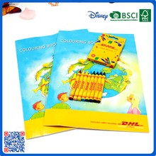 Promotional coloring book set with crayon