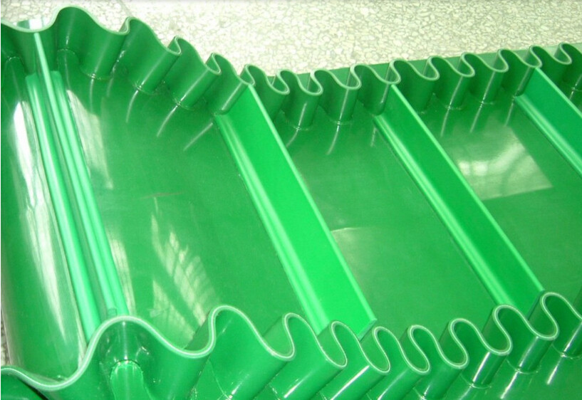 High Flexibly Corrugated Sidewall Rubber Conveyor Belt