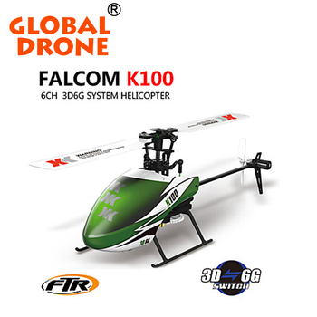 RC helicopter XK K100 helix 6 channel 2.4G RTF helicopter toys for RC model