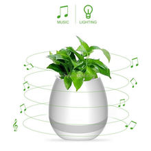 GLACS led music dancing furniture new Plastic colour changing solar led magic wedding flower pot
