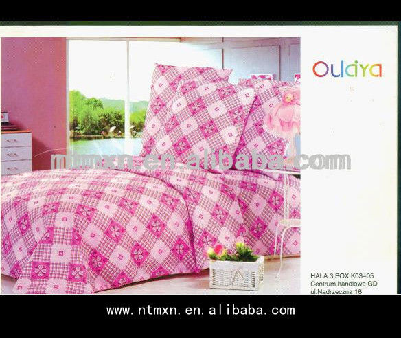 2014 new products wholesale romantic twill feature printed 100% ployester simple design bedding set