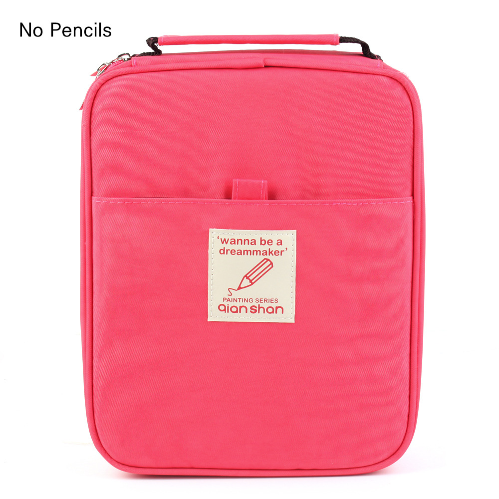 School Stationery Watermelon Red Pencil Case Large Capacity Bag Fit 100 120 132 144 150 Colored Pencils Zipper Pencil Case