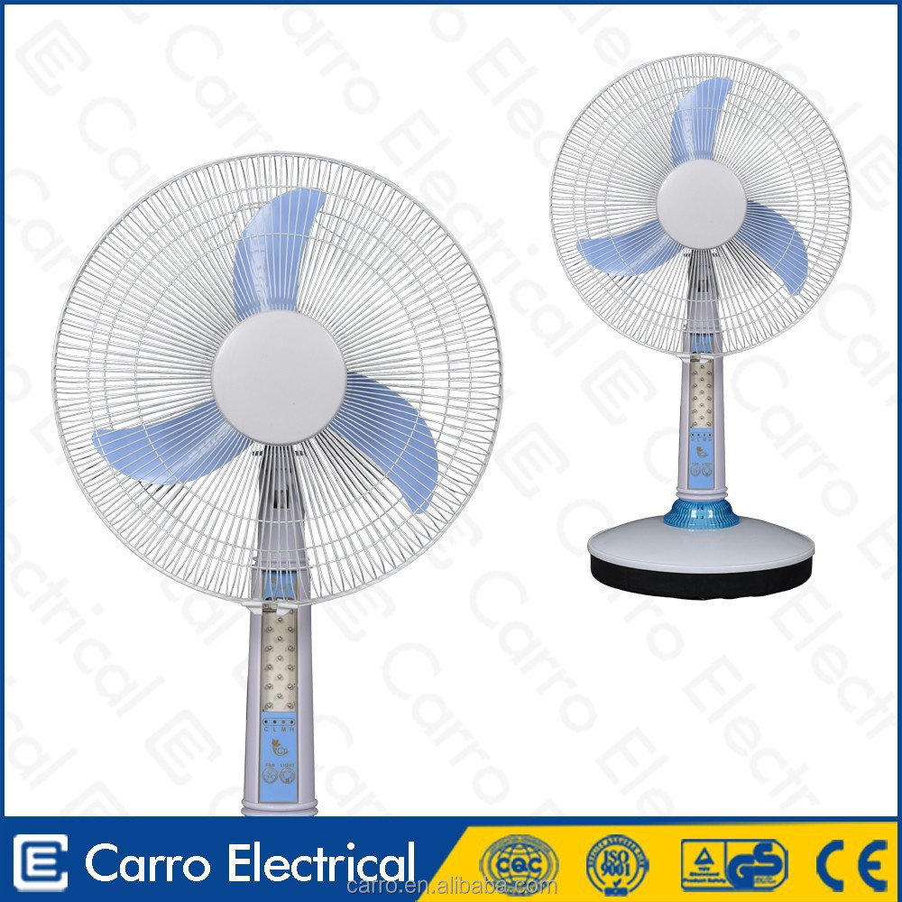 Factory direct 12v 15w led solar battery fans 16inch table rechargeable gfc fan