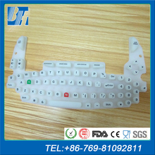 Computer silicone keypad keyboard with conductive carbon pills