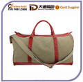 Large Men Leather Canvas Duffel Bag Type Fashion Travel Bag