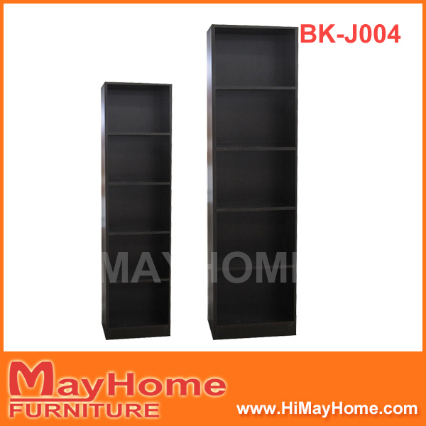 Black wooden bookcase 4 layer bookshelf