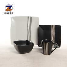 buy bulk wholesale price ceramic square dinner set