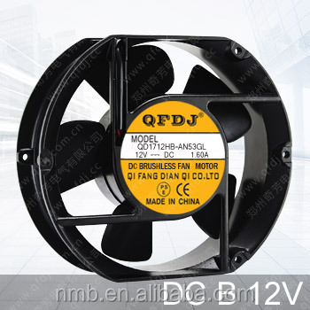 QFDJ 172mm 17250 dc 12v panasonic radiator fan temperature controlled exhaust fan