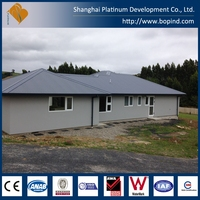 easy assembly prefabricated steel frame house costs