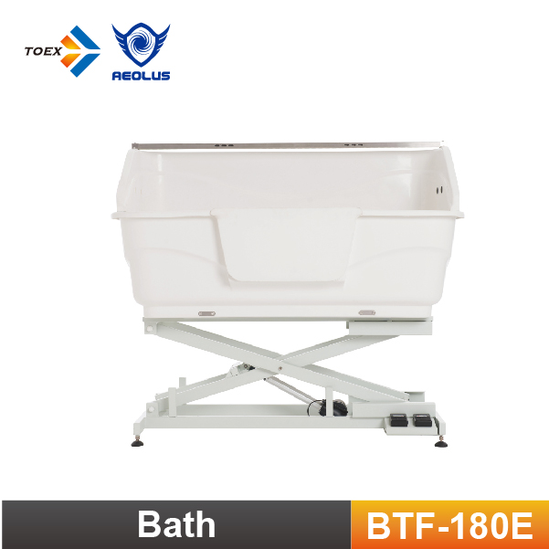 BTF-180E Fiberglass Pet Tub Electric Lifting Dog Grooming Bathtub Pet Cleaning
