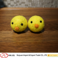 Handmade wool felt yellow chicken toy for kids new for 2015