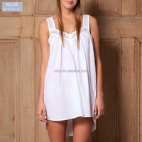 sexy nighty dress picture white light weight strapes short cotton nighty india