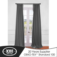 280CM width 2017 popular plain curtain poly linen fabric