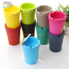 High Quality Colorful Plastic Car Ashtray Butt Bucket