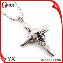 Cranial head pendants charms meaningful cross pendants necklace pendant