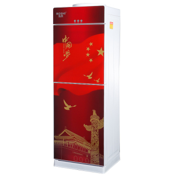 guangzhou manufacture factory OEM price glass door super red luxury drinking home hot cold water dispenser water cooler