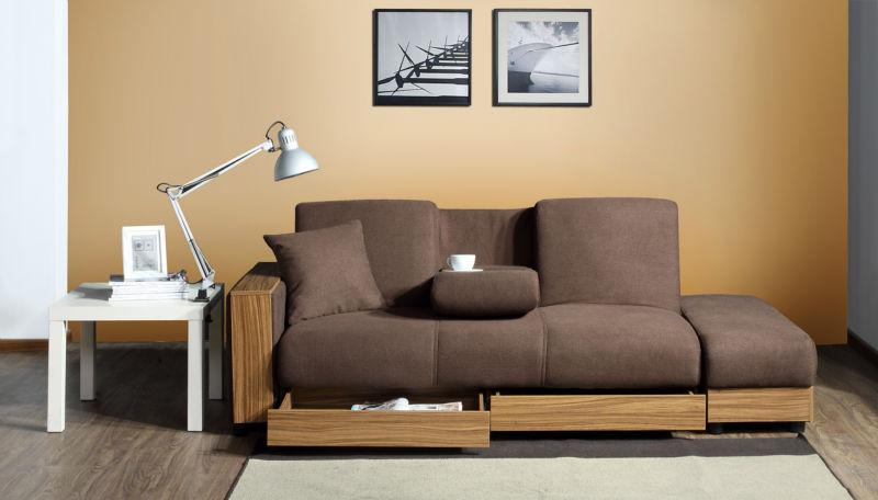 Moderno sofa cama sof cama sof barato de estilo for Sofa cama puff barato