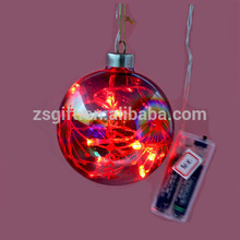 Hot sale led light christmas glass ball for christmas tree decration