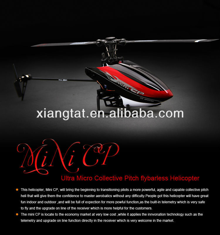 Walkera Mini CP 3D 6CH Flybarless 6 axis Gyro w/ Telemetry DEVO 7E RTF Helicopter